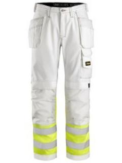 Snickers 3234 Painter's High-Vis Trousers Class 1 - White