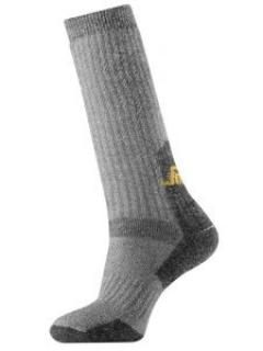 Snickers 9210 High Heavy Wool Socks - Grey/Black