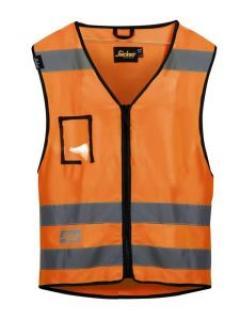Snickers 9153 Vest High-Vis, Class 2 - High Vis Orange
