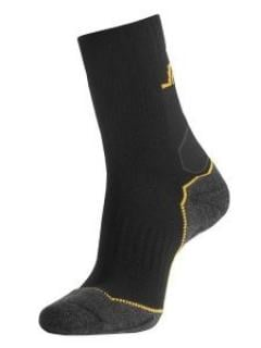 Snickers 9202 Mid Socks Wool Mix - Black/Grey