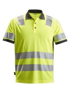 Snickers 2730 AllroundWork, High-Vis Polo Shirt, Class 2 - High Vis Yellow