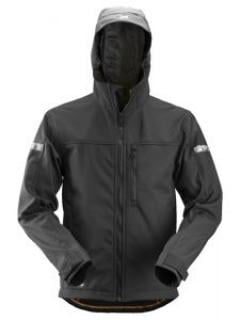 Snickers 1229 AllroundWork, Softshell Jacket Hood - Black