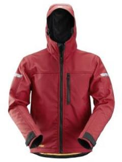 Snickers 1229 AllroundWork, Softshell Jacket Hood - Chili Red