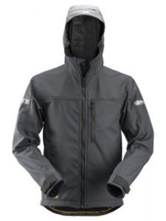 Snickers 1229 AllroundWork, Softshell Jacket Hood - Steel Grey