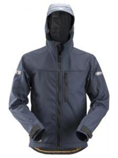 Snickers 1229 AllroundWork, Softshell Jacket Hood - Navy