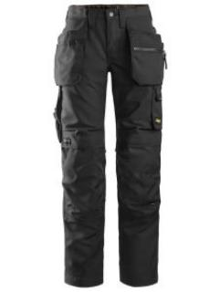 Snickers 6701 AllroundWork, Women's Work Trousers+ with Holster Pockets - Black