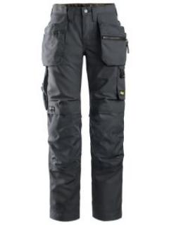 Snickers 6701 AllroundWork, Women's Work Trousers+ with Holster Pockets - Steel Grey