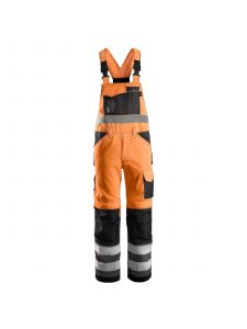 Snickers 0113 High Visibility Bib & Brace, Class 2 - High Vis Orange/Muted Black