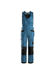 Snickers 0212 Craftsmen, One-piece Trousers with Holster Pockets DuraTwill - Ocean Blue