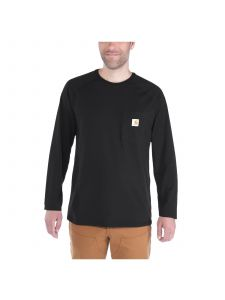 Carhartt 100393 T-Shirt Cotton l/s Force - Black