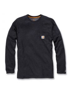 Carhartt 100393 T-Shirt Cotton l/s Force - Carbon Heather