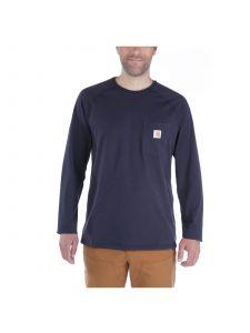 Carhartt 100393 T-Shirt Cotton l/s Force - Navy