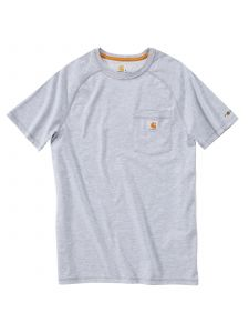 Carhartt 100410 Force T-Shirt Cotton s/s - Heather Grey