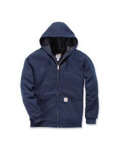 Carhartt 100632 Rutland Thermal Lined Zip Front Sweatshirt - New Navy