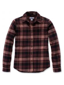 Carhartt 103226 Women's Hamilton Flannel Shirt - Port