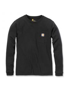 Carhartt 103244 Women's Pocket l/s T-Shirt - Black