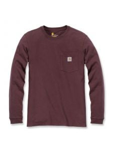 Carhartt 103244 Women's Pocket l/s T-Shirt - Deep Wine