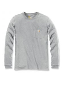 Carhartt 103244 Women's Pocket l/s T-Shirt - Heather Grey