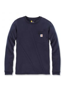Carhartt 103244 Women's Pocket l/s T-Shirt - Navy