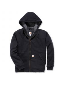 Carhartt 103308 Sherpa Lined Midweight Full Zip Sweatshirt - Black