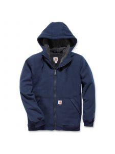 Carhartt 103308 Sherpa Lined Midweight Full Zip Sweatshirt - New Navy