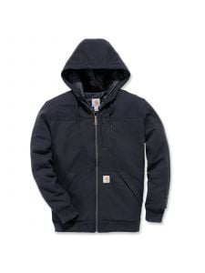 Carhartt 103312 Rockland Quilt Lined Full Zip Hooded Sweatshirt - Black