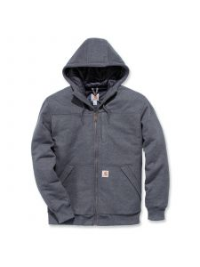 Carhartt 103312 Rockland Quilt Lined Full Zip Hooded Sweatshirt - Carbon Heather