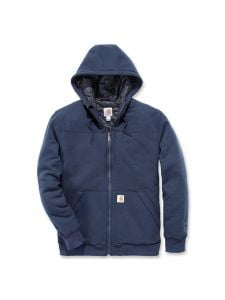 Carhartt 103312 Rockland Quilt Lined Full Zip Hooded Sweatshirt - New Navy