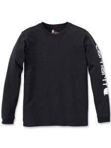 Carhartt 103401 Sleeve Logo l/s T-Shirt - Black