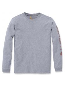 Carhartt 103401 Sleeve Logo l/s T-Shirt - Heather Grey