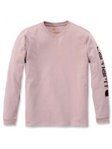 Carhartt 103401 Sleeve Logo l/s T-Shirt - Rose Smoke Heather