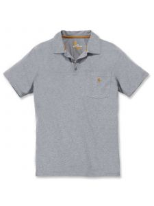 Carhartt 103569 Force® Cotton Delmont Pocket Polo - Heather Grey