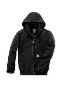 Carhartt 104050 Duck Hooded Active Jacket - Black