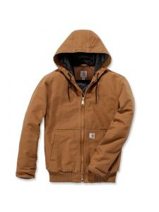 Carhartt 104050 Duck Hooded Active Jacket - C. Brown