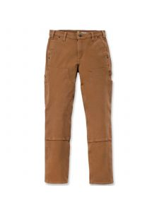 Carhartt 104296 Women's Stretch Twill Double Front Trousers - C. Brown
