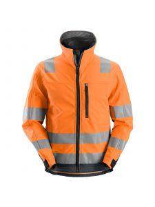 Snickers 1230 AllroundWork, High-Vis Softshell Jacket, Class 3 - Orange/Steel Grey