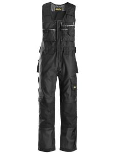 Snickers 0312 Craftsmen, One-piece Trousers DuraTwill - Black