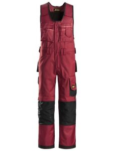 Snickers 0312 Craftsmen, One-piece Trousers DuraTwill - Chili Red