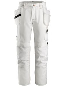 Snickers 3275 Painter's Work Trousers with Holster Pockets - White