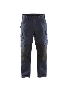 Blåkläder 1497-1141 Service Trouser Denim Stretch - Navy/Black