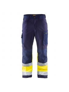 High Vis Softshell Trousers 1562 Marine/High Vis Geel - Blåkläder
