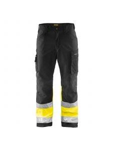 High Vis Softshell Trousers 1562 Zwart/High Vis Geel - Blåkläder
