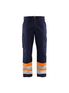 High Vis Trouser 1564 Marineblauw/Oranje - Blåkläder