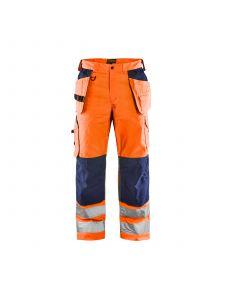 Ventilated High Vis Trousers 1565 High Vis Oranje/Marine - Blåkläder