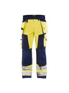 High Vis Softshell Craftsman Trouser 1567 High Vis Geel/Marine - Blåkläder