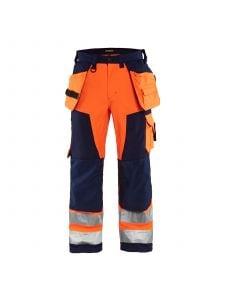 High Vis Softshell Craftsman Trouser 1567 High Vis Oranje/Marineblauw - Blåkläder