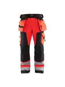 High Vis Softshell Craftsman Trouser 1567 High Vis Rood/Zwart - Blåkläder