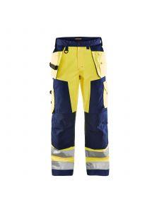 High Vis Trouser Without Holster Pockets 1566 High Vis Geel/Marine - Blåkläder