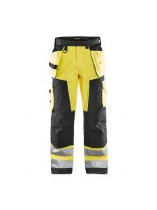 High Vis Trouser Without Holster Pockets 1566 High Vis Geel/Zwart - Blåkläder