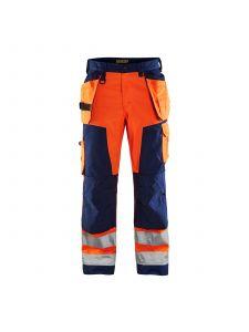 High Vis Trouser Without Holster Pockets 1566 High Vis Oranje/Marine - Blåkläder